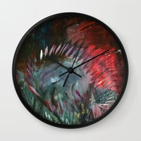 pixies Wall Clocks featuring Pixies by Jessica Doerr
