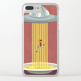 Invasion of spaghetti Clear iPhone Case