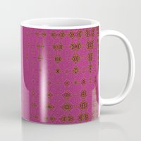 hot pink Mugs featuring Hot Pink by Dorothy Pinder