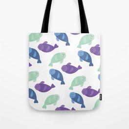 Manatee Pattern Fun Tote Bag