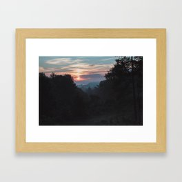 Sunrise Over Athens, Ohio Framed Art Print