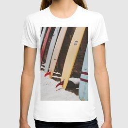 lets surf xxii / malibu beach, california T-shirt