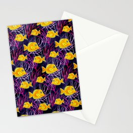 Yellow Tang in a Coral Reef Stationery Cards