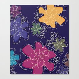 Floral - #Bright #Flowers #Abstract #Pattern Canvas Print