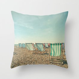 A Sea View Throw Pillow