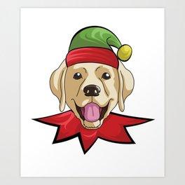 elfdog golden Art Print