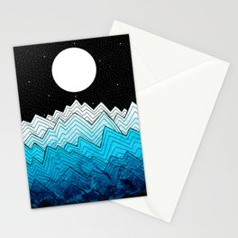 A rough winter's sea Stationery Cards