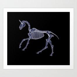 Unicorn Fossil Art Print