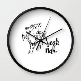 Koala yeah nah Wall Clock