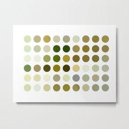 Pale Yellow Poinsettia 1 Dots Metal Print