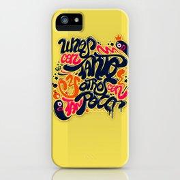 Unos con tanto... iPhone Case