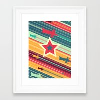 space dandy Framed Art Prints featuring A Dandy guy... In Space! by Ben Huber