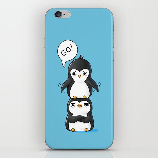 Penguins iPhone & iPod Skin