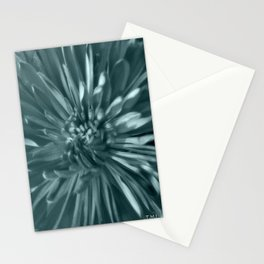 Flower | Flowers | Soft Blue Steel Mums Stationery Cards