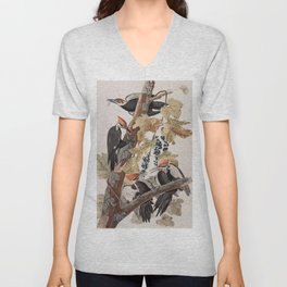 John James Audubon -Woodpecker Unisex V-Neck
