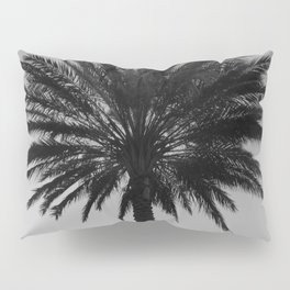 Big Black and White Palm Tree Pillow Sham