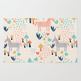 Rainbows & Unicorns Rug