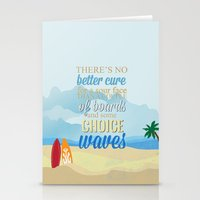 lilo and stitch Stationery Cards featuring choice waves.. lilo and stitch by studiomarshallarts