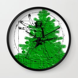 da vinci's Tree Wall Clock