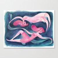 pisces Canvas Prints featuring Pisces by Claire Keane