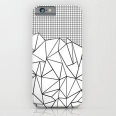 Abstract Outline Grid Black on White Slim Case iPhone 6