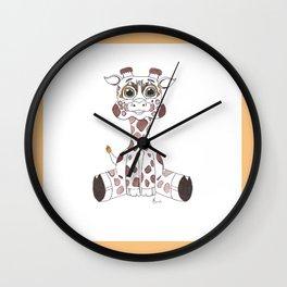 JujuGiraffe Wall Clock