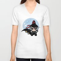 powerpuff girls V-neck T-shirts featuring Powerpuff Bayonetta by Marco Mottura - Mdk7