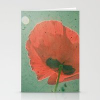 poppy Stationery Cards featuring Poppy by Cassia Beck