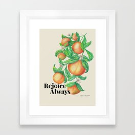 Joyful Fruit Framed Art Print