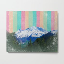 Mountain Rainbow Love Metal Print