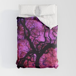 Under the Tree in Pink and Purple Duvet Cover