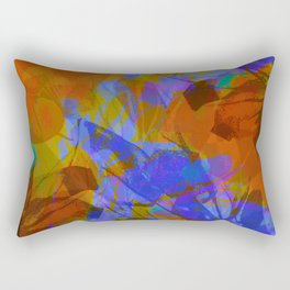 Yellow Water Blossoms Rectangular Pillow