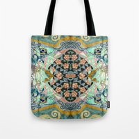 cage Tote Bags featuring Cage by Shaila