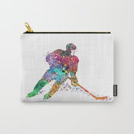 Girl Ice Hockey Sports Art Print Carry-All Pouch