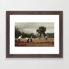 1920 - harvest Framed Art Print