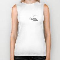 snail Biker Tanks featuring Snail by Jillian Leigh