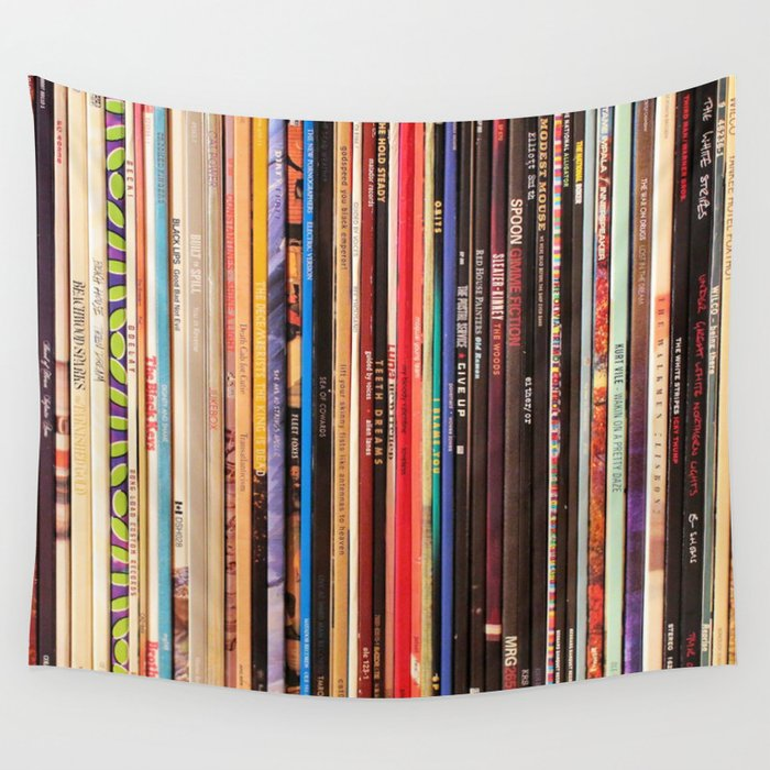Indie Rock Vinyl Records Wall Tapestry