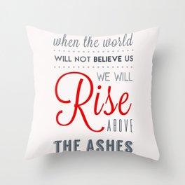 Rise! Throw Pillow