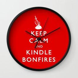 Keep Calm & Kindle Bonfires Wall Clock