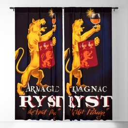 Vintage 1945 French Armagnac Ryst Cognac Advertisement Poster Blackout Curtain