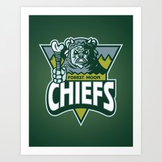 Forest Moon Chiefs - Green Art Print