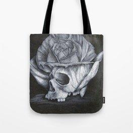 rosy skull Tote Bag