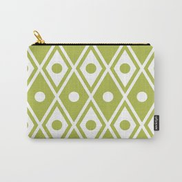 Harlequin Pattern Chartreuse Carry-All Pouch