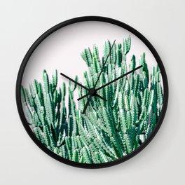 A Gathering of Cacti Wall Clock