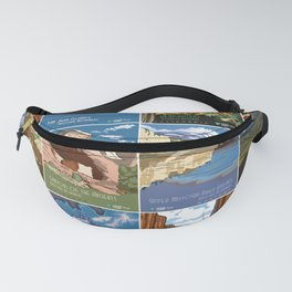 National Conservation Lands Vintage Poster Series (2015) Fanny Pack