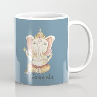 ganesha Mugs featuring Ganesha by Hsinart 心藝術