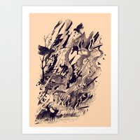 chaos Art Prints featuring Chaos by nicebleed