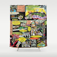 comic Shower Curtains featuring Vivita Spa KOMIX #1 by Tex Watt