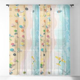 Summer Days Sheer Curtain