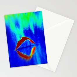 Egret Abstract Stationery Cards